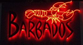 """""""Barbados"""" Custom neon sign red tubes"""