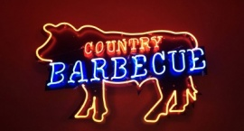 """BBQ"" custom business sign"