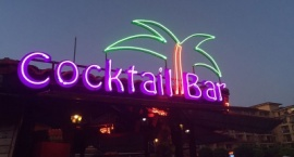 """Cocktail bar"" neon sign"