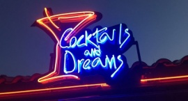 "Custom neon sign ""Cocktails and Dreams"""