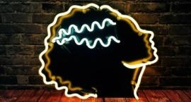 """""""The thinker"""" cutom neon art sculpture"""