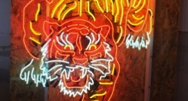 """Tiger"" custom neon sign"