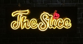 """The Slice"" Custom neon sign"