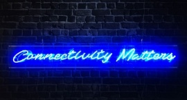 """""""Connectivity matters"""" custom text neon sign"""