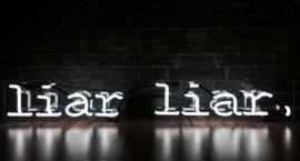 """""""Liar Liar"""" custom neon sign"""