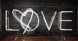 """Love"" custom neon sign on transparent background"